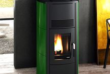 Green Wood Pellet Stoves and interior design inspiration / Pictures of Green wood pellet stoves. Pictures of wood pellet stoves that compliment Green as an interior design colour.