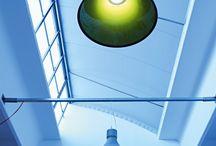 SHOP   Exenia Lighting / SHOP   PENDANT-CEILING LAMPS   Exenia Lighting. Suspension lamp with LED light sources with monoemission or biemission light. Body in spun aluminum in matt white, matt black or concrete grey varnish.