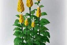 Květiny a stromečky z korálků