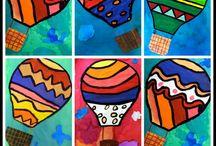hot air ballons art