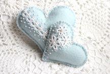 felt lace hearts