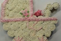 Baby girl shower cupcakes and cakes