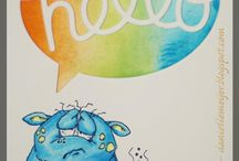 Get Well Cards created with Chameleon Pens / Cute Get Well Cards done with Chameleon Pens. Chameleon Pens are alcohol based markers  that you can change the color tone of the ink so one pen can make multiple color tone
