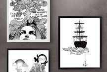 On the wall / All prints can be easily framed and look awesome on your wall!