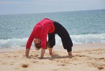 Yoga in Nature / Yoga practice outdoor in nature