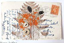 Autumn Garden / Mixed media and textile art work by Diana Taylor at Velvet Moth Studio