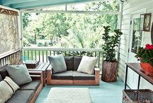Porches and beautiful ideas / by Nancy Faircloth