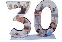 NÚMERO PARA CUMPLEAÑOS / Números en DM, de 25 cm de alto x 10 mm de grosor. Personalizado para un encargo de aniversario.