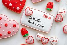 Hard and valentine cookies