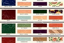 Vintage colour palette