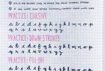 Calligraphy and handlettering