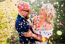 Colourful Confetti Photography / Who dosen't love a good old colourful shower of confetti over them! The wedding guests love it, the bride and groom mostly love it, I love capturing those epic moments!