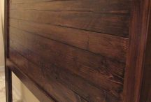 Headboard Ideas / Ray needs to make me a headboard for the guest room. I want it made out of dark reclaimed wood, and it has to be low and simple....sort of Asian inspired...maybe.