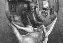 M.C Escher. / Dutch graphic artist.
