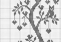 black and white cross stitch