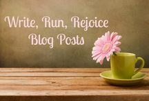 Write, Run, Rejoice Blog Posts / Hello, and welcome to my blog! Here's where I chat about writing, books, life, and my current Extreme Writing Career Makeover.