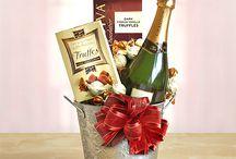 Подарочные корзинки с вином