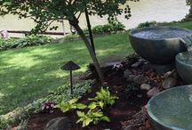 Water Features / Water features add serenity to a backyard. The tranquil sound of trickling water is  a great way to unwind after a long day