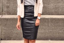 leather skirts outfits