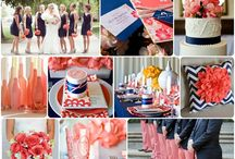Navy & Coral