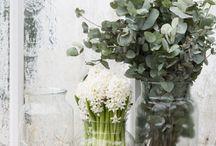 Fleurs et jardinières / Compositie met bloemen