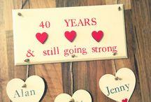 Ruby Wedding Anniversary mum and dad