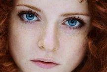 beautiful eyes and hair