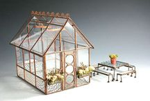 Miniature Buildings / Doll houses,miniature greenhouses,dollhouses,