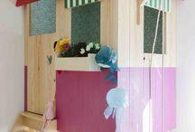 Domek do zabawy / Domek do zabawy w pokoju dziecka, na zewnątrz, na podłodze, podwieszany itd.