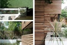 Exterior feature wood wall