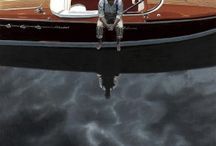 Iain Faulkner / Ian Faulkner, born in Glasgow in 1973,  His paintings are strong and powerful images relying on visual impact as there is rarely an narrative.