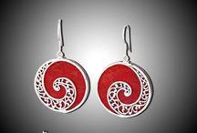 Cercei/Earrings / Accent Bijuterii - Cercei din argint, lucraţi manual, unicat şi cu pietre naturale semipretioase.