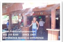 Mist in restaurants / Cool restaurants with a misting system