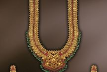 Antique Temple Jewellery / Vintage jewelry recreated for the present generation with real rubies and emeralds and also real kempo stones.