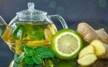 gezonde limoen/ thee / water