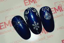 Winter, Christmas and New Year nails / Zimní, Vánoční a novoroční nehty