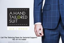 A Hand Tailored Suit / Marketing board for the #ahandtailoredfamily
