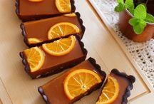 Orange pie chocolate
