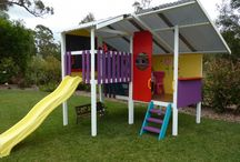 Cubby houses and kids back yard ideas.