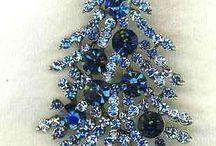 Christmas Crystals and Pins