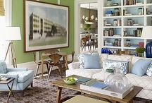 Living Rooms / The most public room in the house: sometimes combined with a family room or a grand formal space, this is where we entertain. Sofas, armchairs, coffee tables, art, rugs, drapes, cushions, interesting vignettes and more. / by Beatrice Lawson