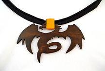 Wooden dragon, wood bow tie dragon