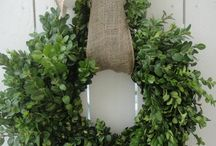 Wreaths from natural plants