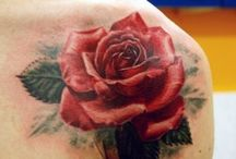 tatoo fleur et oiseau