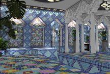 Architecture orientale / J'ai importé l'art oriental en région picarde en créant ce hammam aux milliers de mosaïques bleutées