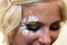 Festival theme face paint