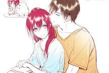 С красными волосами