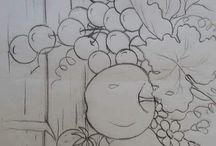 uvas e maçãs