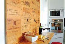 Caisses de vin recyclées