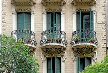Windows and balconies in Barcelona and more